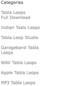 Categories of Digital Downloads for Tabla Loops